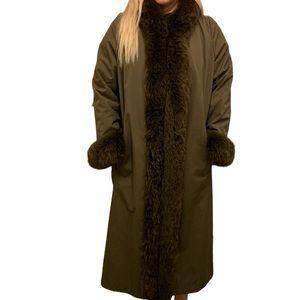 Charles Romain Paris Women's Fur Trim/Lined Coat